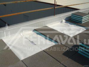 Impermeabilización de cubierta.