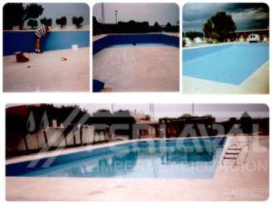 Impermeabilización piscinas de Guissona.