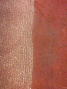 Diferencia entre una superficie fresada y superficie sin preparar